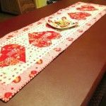 Valentine Table Runner by Freda's Hive