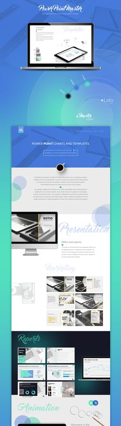 Web design || One page layout PowerPoint presentation slides // graphic on Behance