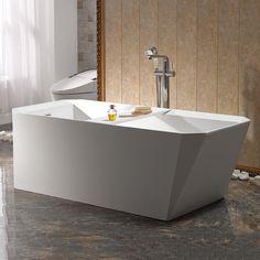 Badkar Bathlife Hjärta Vit Vit, Bathtub, Bathroom, Design, Standing Bath, Washroom, Bathtubs, Bath Tube, Full Bath