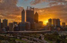 #sunrise behind #Perth CBD #thisisWA