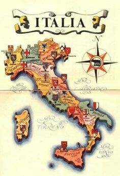 Italia # My dads family is from Calabria. Italy Map, Italy Travel, Italia Vintage, Rome Florence, Places To Travel, Places To Go, Photo Vintage, Thinking Day, Italian Language