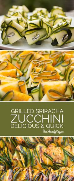 These grilled zucchini ribbons are a fantastic side or vegan option at any bbq. They are brilliant served hot but also make a great cold addition to salads.