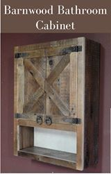 I've been looking for a cabinet like this for the bathroom! Would add great storage to any bathroom! #affiliate #bathroomdecor #rustic #farmhouse #barnwood