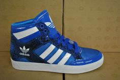 Adidas Hard Court Hi Womens Ladies High Tops Blue White Q21599 UK 5 5 | eBay