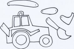 make a movable tractor {free printable!}