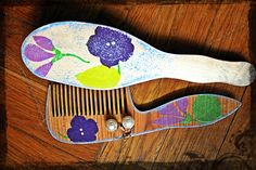 """set of combs """"Flowers"""""""