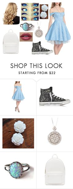 """Daughter of Cinderella (Ella) Outfit One"" by yukihanayuuki ❤ liked on Polyvore featuring Disney, Converse and PB 0110"