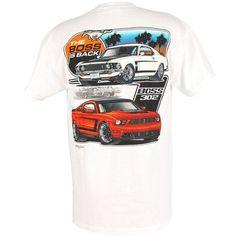 Mustang Black /& Silver Ride the Pony T-Shirt Shirt w// Running Horse Logo 2XL 2X