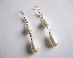Cercei mireasa din pietre Swarovski si perle Mallorca - idei accesorii nunta Swarovski, Pearl Earrings, Pearls, Jewelry, Pearl Drop Earrings, Pearl Studs, Bijoux, Jewlery, Jewels