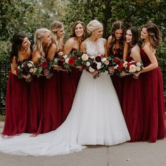 """4,322 Likes, 57 Comments - WeddingWire (@weddingwire) on Instagram: """"Double tap if you think your #bridesquad would look absolutely radiant in these red dresses! ❤️…"""""""
