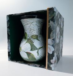 Iris white flower vase, glass tabledecor, shaby chic decoupage centerpiece, handpainted home decor, gift idea for birthday in gift box by biborvarazs on Etsy Flower Vases, Flower Pots, Gift Box Birthday, Wine Bottle Gift, Shaby Chic, Centerpieces, Table Decorations, Matching Gifts, Mother Gifts
