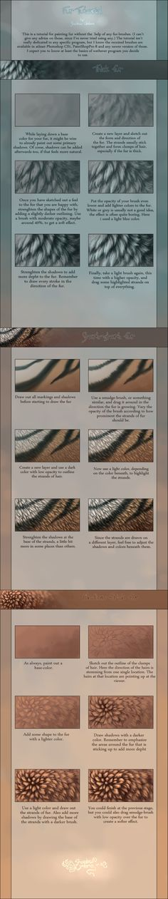 Fur Tutorial by MinnaSundberg on @DeviantArt