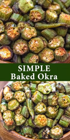 I discovered okra about two years ago and instantly fell in love with it. This vegetable is so healthy and easy to prepare, and it tastes great! If you haven't had a chance to try it yet, now is the time. Below, I'll share with you my favorite way to[. Healthy Recipes, Veggie Recipes, Vegetarian Recipes, Vegetarian Lunch, Cooking Recipes, Frozen Okra Recipes, Garden Vegetable Recipes, Vegetarian Barbecue, Barbecue Recipes
