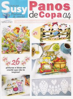 Coleção Susy pintura &croche panos de copa 04 - Aparecida Zaramelo - Picasa Web Albums...crochet diagrams and painting designs!