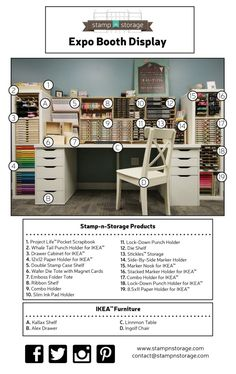 Explore one of the great options for how to organize your Stamp-n-Storage products with IKEA® furniture!