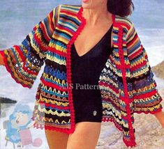 PDF Crochet Pattern for a 1960s Retro  Beach by TheKnittingSheep
