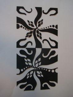 mirror image 2d design paper/carved