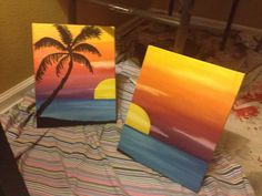 Beach sunset painting #painting #sunset #beach