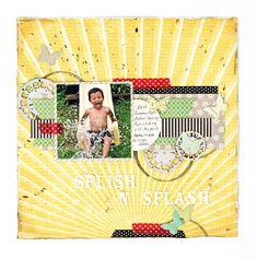 Scrapbook Page Layouts, Scrapbook Pages, Scrapbooking, Pure Happiness, Splish Splash, Summer Fun, Summer 2016, Layout Design, Magazine
