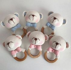 2019 All Best Amigurumi Crochet Patterns - Amigurumi Free Pattern The most admired amigurumi crochet toy models in 2019 are waiting for you in this article. The most beautiful amigurumi toy patterns are all on this site.Baby crochet teethers and pacifiers Crochet Baby Toys, Newborn Crochet, Crochet Bunny, Crochet Gifts, Crochet Dolls, Baby Knitting, Diy Crochet, Diy Bebe, Newborn Toys