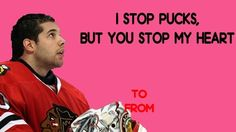 Hockey Valentines: I stop pucks, but you stop my heart <3