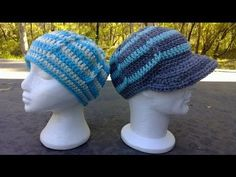 Jacobs Ladder Fitting Hat - optional Brim / Peak Crochet Tutorial