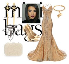 A fashion look from November 2017 featuring gold sequin gown, pre owned shoes and metallic silver purse. Browse and shop related looks. Gold Sequin Gown, Silver Purses, Henri Bendel, Giuseppe Zanotti, Fashion Looks, Sequins, Gowns, Formal Dresses, Polyvore