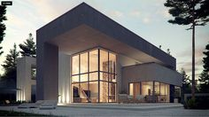 Projekt domu Zx127. Nowoczesna willa z dużymi przeszkleniami, garażem 2-stanowiskowym oraz antresolą