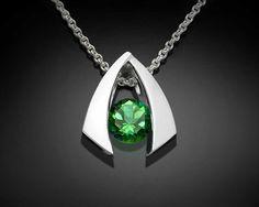 collar de plata verde topacio plata por VerbenaPlaceJewelry en Etsy