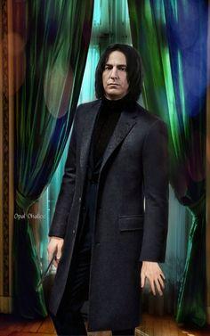 Snape And Hermione, Professor Severus Snape, Harry Potter Severus Snape, Alan Rickman Severus Snape, Severus Rogue, Harry Potter Fan Art, Slytherin, Hogwarts, Auburn Hair
