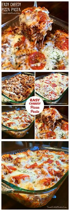 EASY CHEESY PIZZA PASTA - The perfect meal for pasta and pizza lovers!  A dish the whole family will love, especially if you have picky eaters. Kid and adult approved! Simple to adapt to your taste.  Perfect for a busy day!  |  SweetLittleBluebird.com
