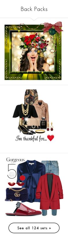 """Back Packs"" by shamrockclover ❤ liked on Polyvore featuring art, http, PINTRILL, Dsquared2, Designers Remix, RED Valentino, Marco Bicego, Bulgari, Roberto Coin and Chanel"