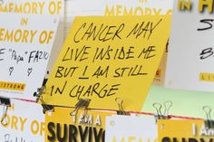Cancer may live inside me, but I am still in charge! #cancer #quote