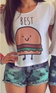 crop tops women girls crops for summer tank top Best friends. Short Sleeve  Collared ShirtsShort Sleeve BlouseShort SleevesT ... a4ab40964c6