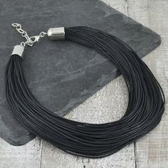 Multi Cord Black Necklace - necklaces & pendants Black Necklace, Pendant Necklace, Posh Shop, Costume Jewelry, Cord, Pendants, Necklaces, Shopping, Electrical Cable