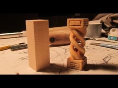 Hollow Spiral Whittler's Puzzle - Fun woodcarving project!!! - YouTube