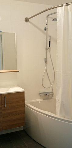 cabine de douche textile asym trique galbobain et. Black Bedroom Furniture Sets. Home Design Ideas