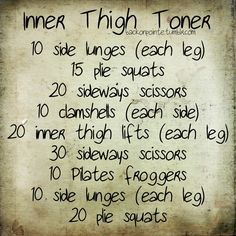 tone your inner thighs workout