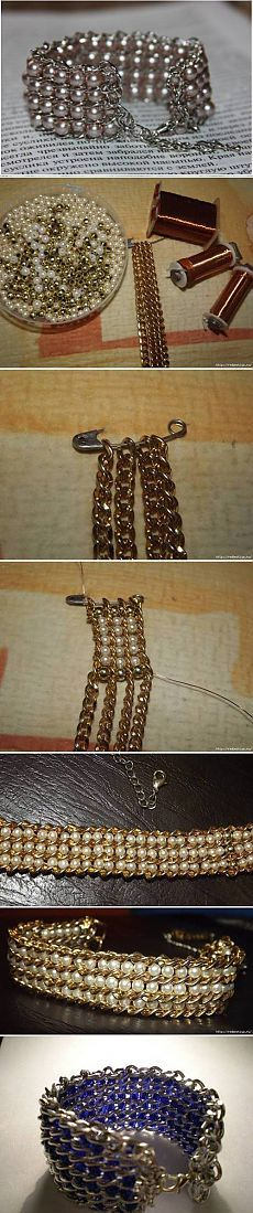 How to make Beads and Chains Bracelet. | Laboratory household