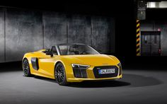 The 2017 Audi Spyder surprised no one at the 2016 New York Auto Show, although everyone expected it to show up, in the flesh; The 2017 Audi Spyder was available for admiration as soon as the first official photos Audi R8 Convertible, Audi R8 Spyder, Audi R8 V10 Plus, Audi R8 Cabriolet, Wallpaper Audi R8, 2017 Wallpaper, New Audi R8, Audi 2017, Offroad And Motocross