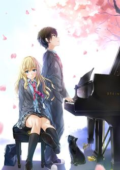I found this epic art  Anime = Shigatsu wa Kimi no Uso