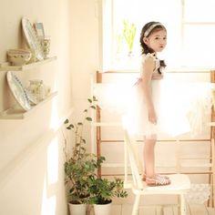 Vintage Inspired Flower Girls White Dress For Girls | Vindie Baby. Sweet and Romantic.