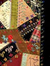 Image result for victorian crazy quilt