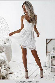 $25.00 women-s-spaghetti-strap-v-neck-lace-dress. Huge selection of dresses to choose from, start shopping online today! Trendy Summer dresses that come in many different styles; long, short, midi, mini, modest, blackless, simple, unique, boho and some many more dresses perfect for any occasion. #classydress, #style, #fashion, #trendy, #shopnow, #affiliate, #sleevelessdress, #summerdress, #summerfashion, #2018