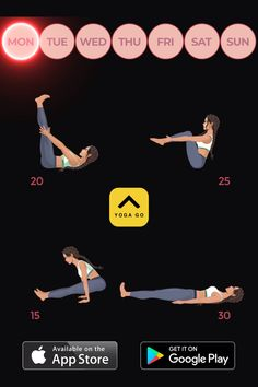Yoga-Go: Weight Loss Workouts 🧘♀ 30 Minute Workout, Gym Workout Tips, Yoga Workouts, Exercises, Gym Workouts To Lose Weight, Gentle Yoga Flow, Yoga Sculpt, Post Pregnancy Workout, 30 Day Workout Challenge