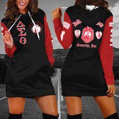 Delta Sigma Theta, Hoodie Dress, Custom Made, Pullover, Unisex, Hoodies, Tank Tops, Long Sleeve, Sleeves