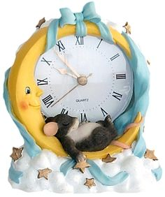 Charming Tails | ff1100 fitz and floyd charming tails moon stars clock charming tails ...