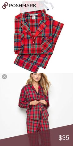 0867f20480e32a Victoria s Secret Red Plaid Pajama Set Size small