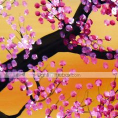 pintura al óleo de las flores del ciruelo floral conjunto de 3 con el marco de estirado-1307 fl0156 lienzo pintado a mano 635564 2016 – €80.35