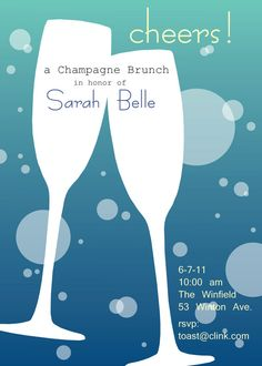 Champagne Custom Party Invitation by SBVintageAndDesign on Etsy, $10.00